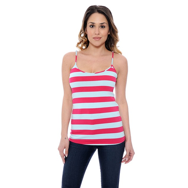 4-Pack: Layering Striped Camisoles with Adjustable Straps