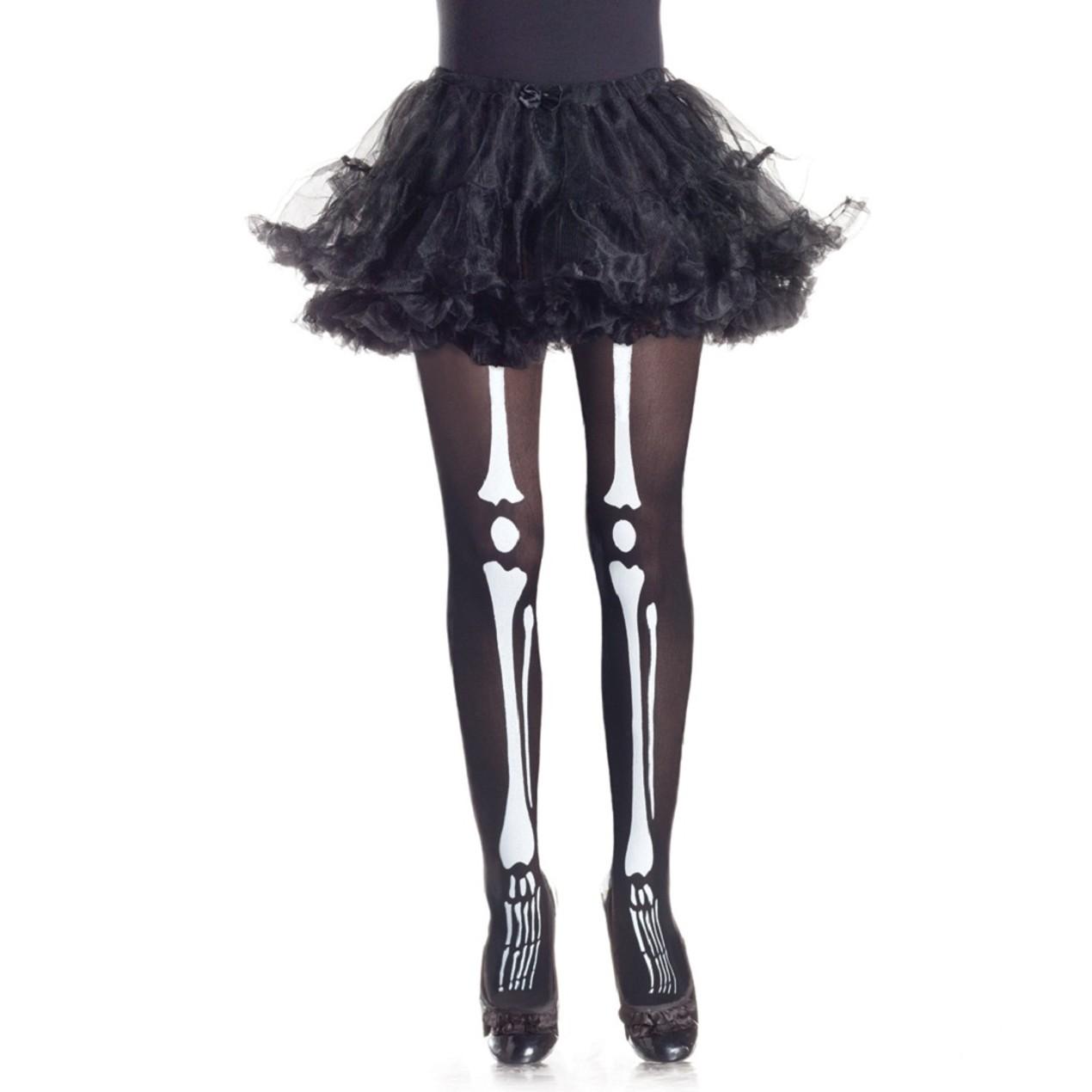bone halloween tights for girls - tanga
