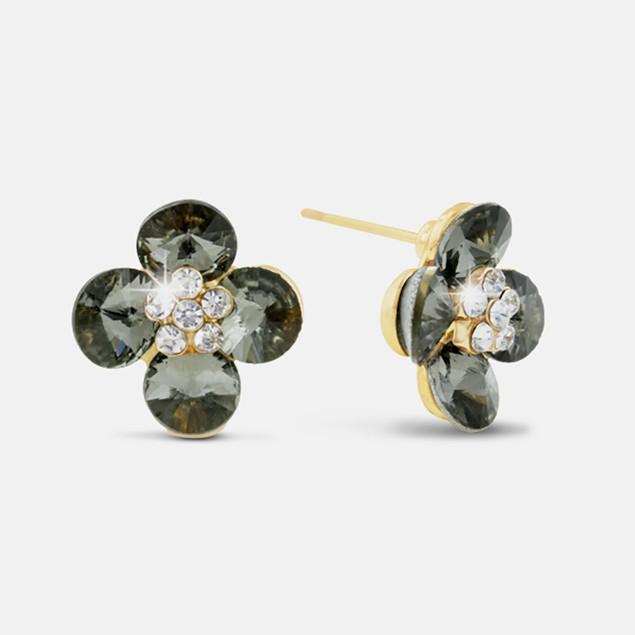 Blooming Flower Swarovski Elements Stud Earrings