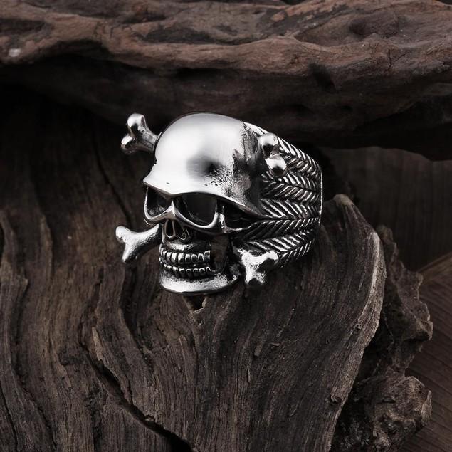 Skull & Bones Emblem Stainless Steel Ring
