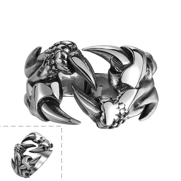 Laser Cut Stainless Steel Sword Ring
