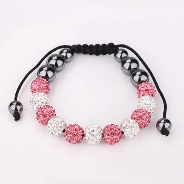 Coral & Ivory Beads 80's Glam Bracelet