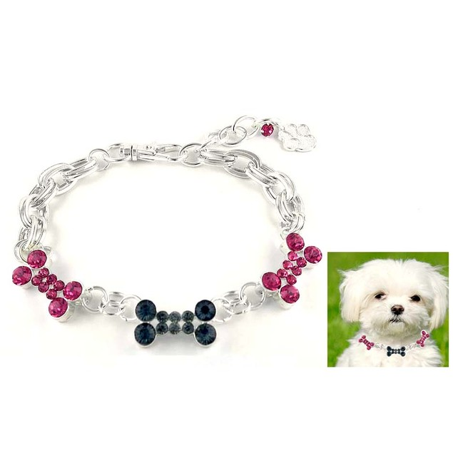 Crystal Dog Necklace
