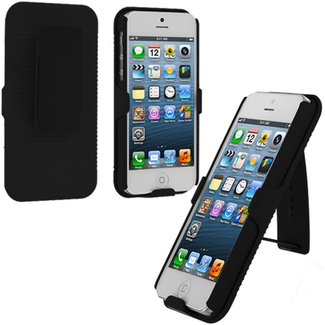 Apple iPhone 5 Belt Clip Hard Holster Case Cover