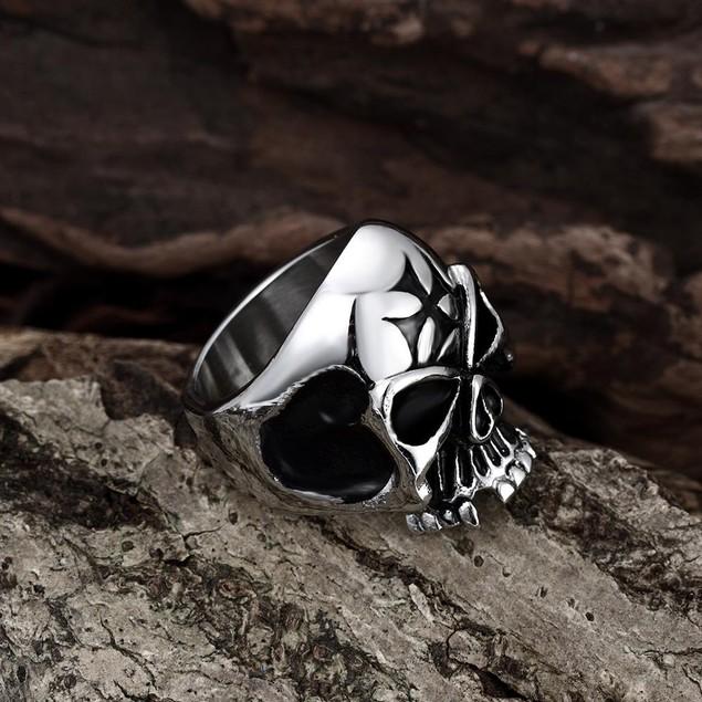 Alien Skull Stainless Steel Ring