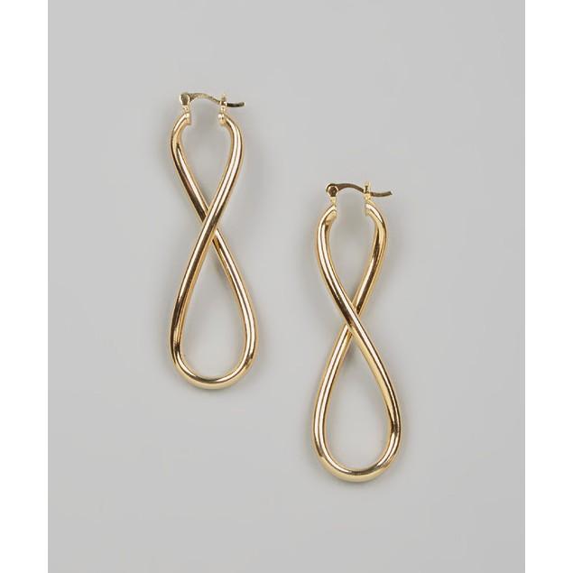 18K Gold Plated Infinity Drop Earrings