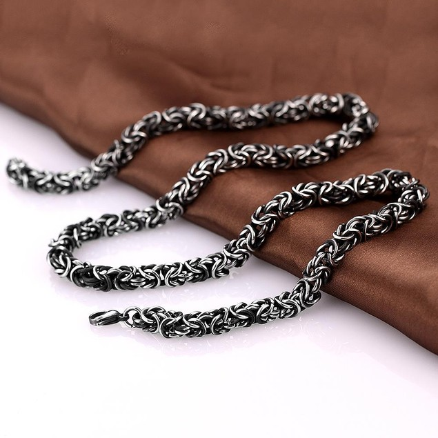 Alpha Steel Medieval Inspired Stainless Steel Necklace
