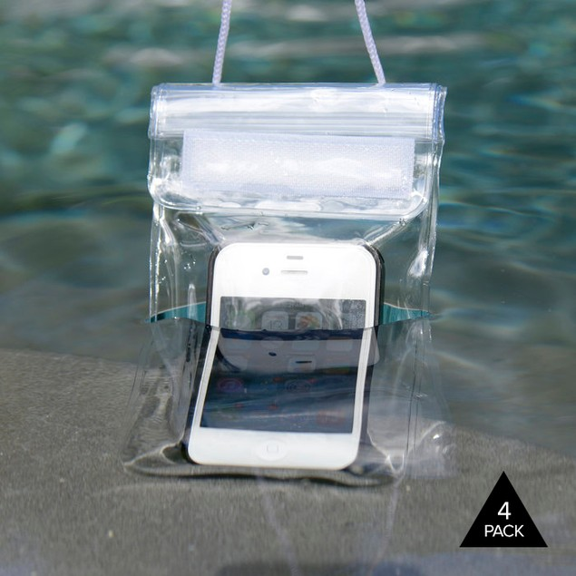 4-Pack: Smartphone Waterproof Pouches