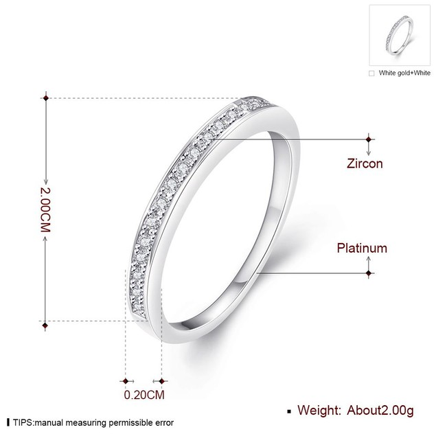 White Gold Plated Midi- Ring