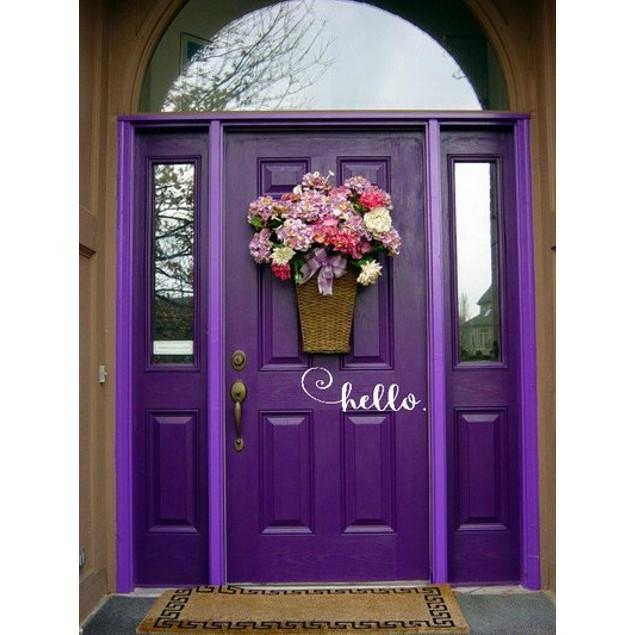 Hello Door Decal 4