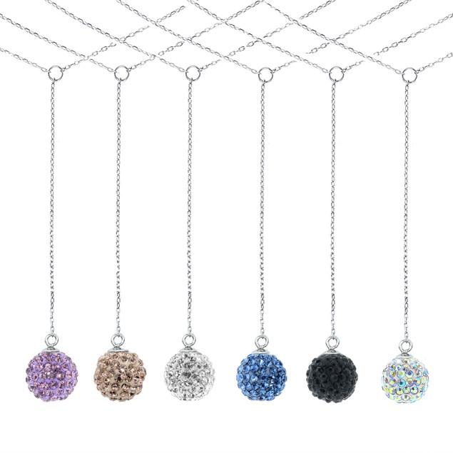 "Sterling Silver Swarovski Elements ""Y"" Necklace"