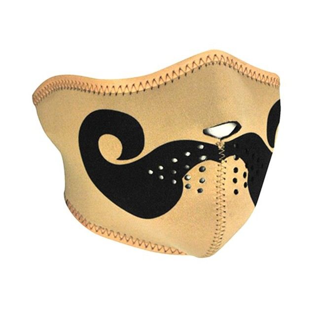 Neoprene 1/2 Face Mask - Curly Mustache