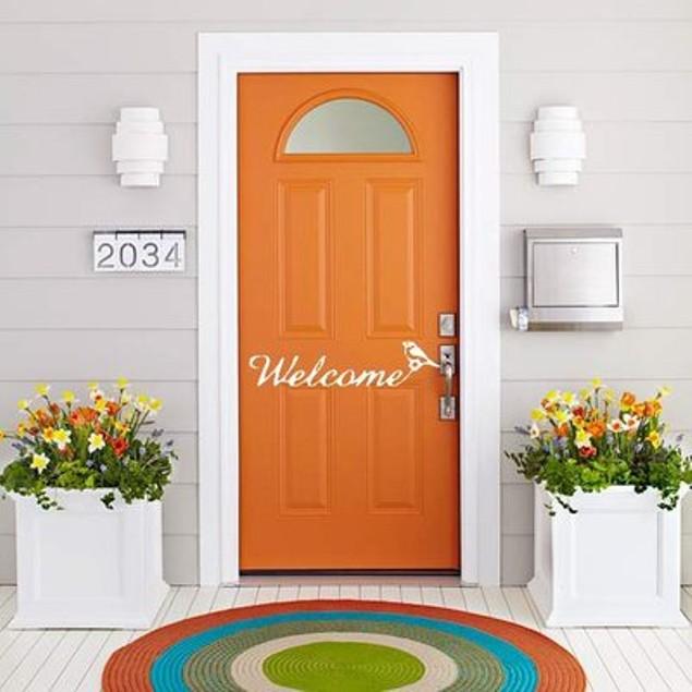 Welcome Bird Vinyl Door Decal