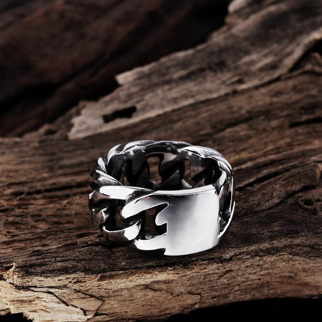 Classic New York Stainless Steel Ring