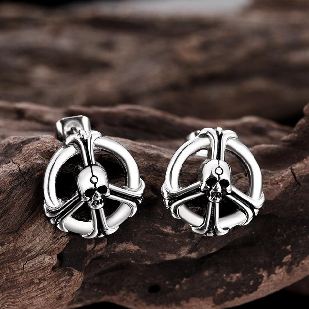 Ironic Peace Stainless Steel Earrings