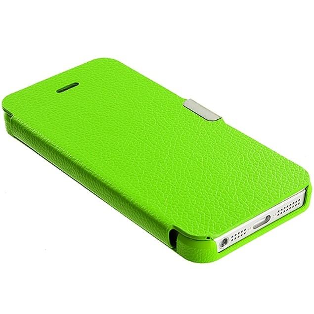 Apple iPhone 5 Slim Wallet Magnetic Flip Case Cover