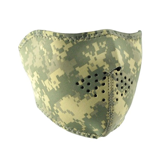 Neoprene 1/2 Face Mask - Digital ACU Camouflage