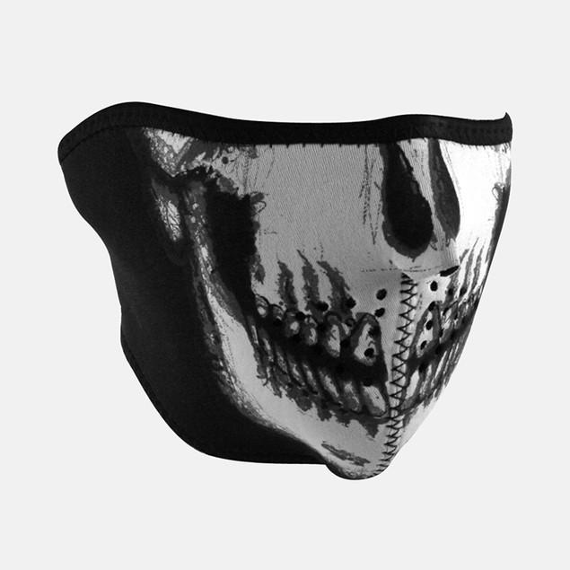 Neoprene 1/2 Face Mask - Glow in the Dark - Skull Face