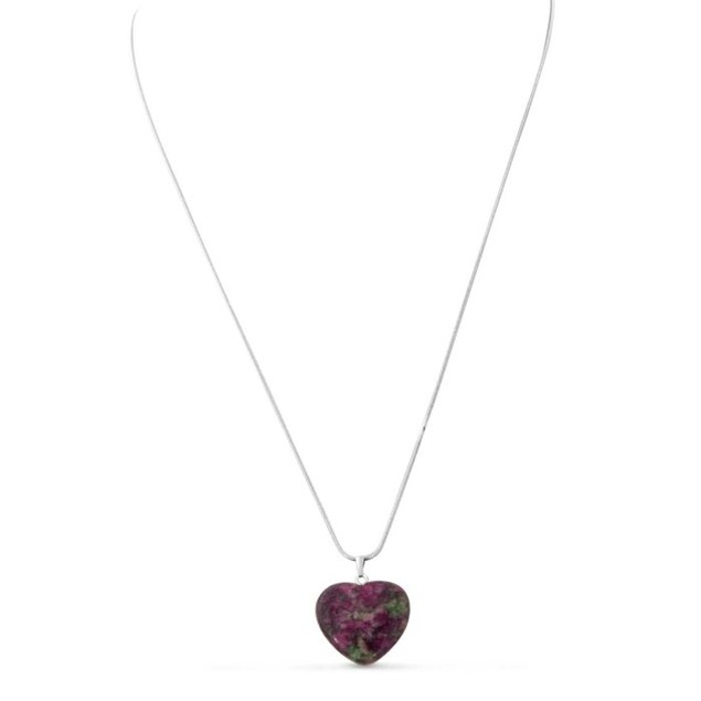 Floral Natural Heart Necklace, 22 Inches