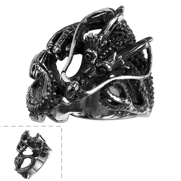 The Ancient Dragon Stainless Steel Ring