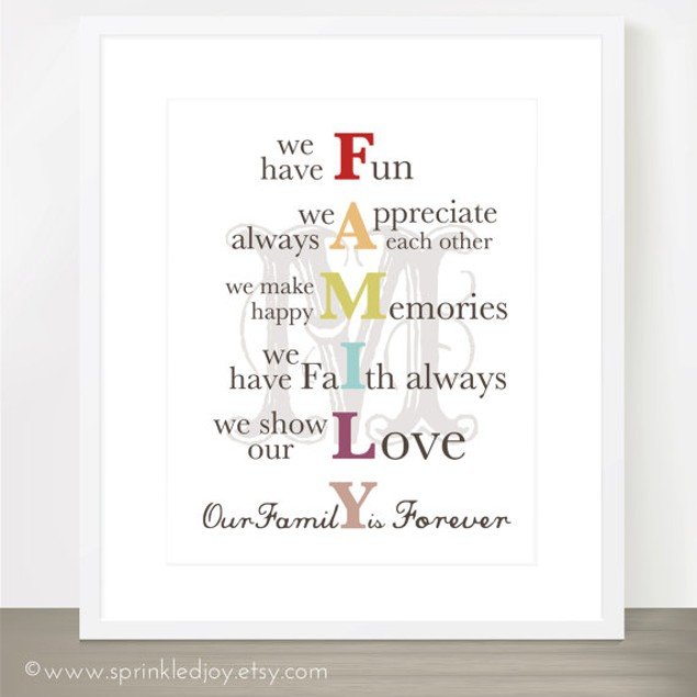 Family Mission Statement Print