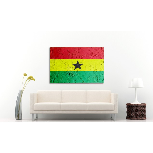Concrete Ghana Flag Canvas Print