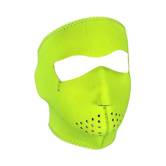 High Visibility, Lime Neoprene Full Face Mask