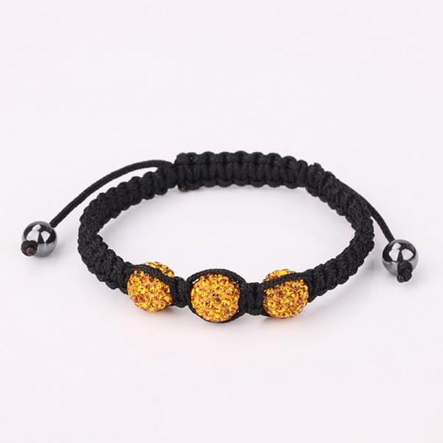 Austrian Crystal Style Bracelet - Orange Zircon