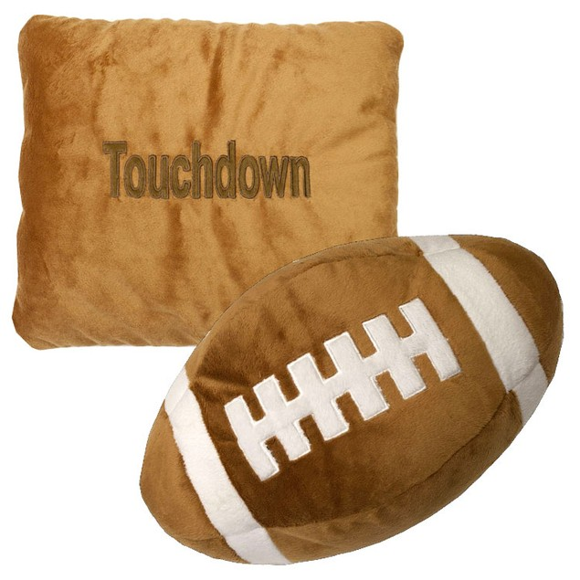"""Touchdown"" Football Stuffed Plush Pillow & Ball in One"
