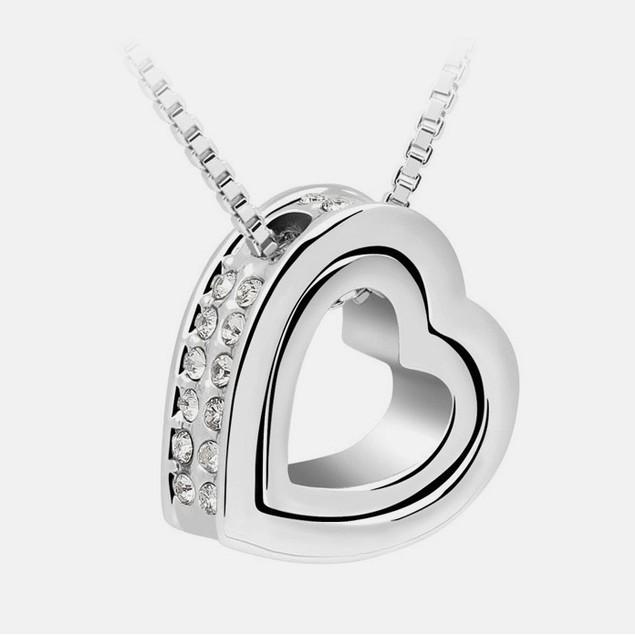 Florence Scovel Double Heart Pendant