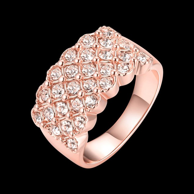 Rose Gold Plated X Ring