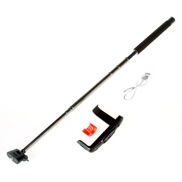 Extendable Wireless Bluetooth Selfie Stick with built-in Bluetooth Remote Shutter