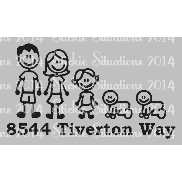 Personalized Family Vinyl Mailbox Decal