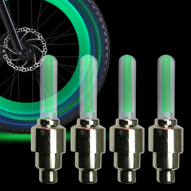 4 Pack: LED Bicycle Wheel Lights