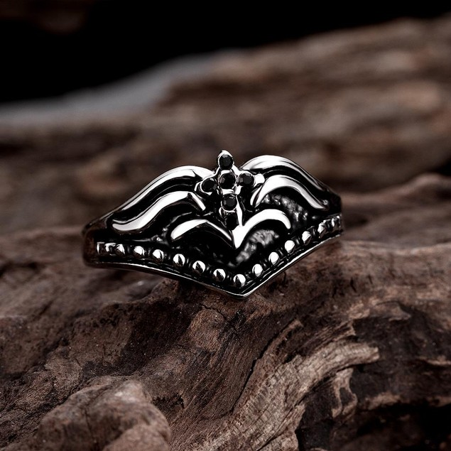 The Warrior's Emblem Stainless Steel Ring