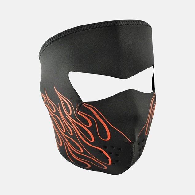 Orange Flame Graphical Neoprene Full Face Mask