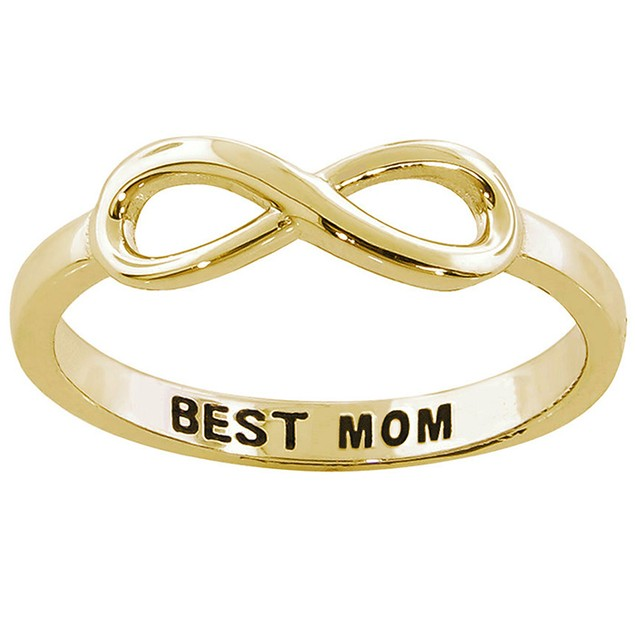 Sterling Silver Infinity Best Mom Ring