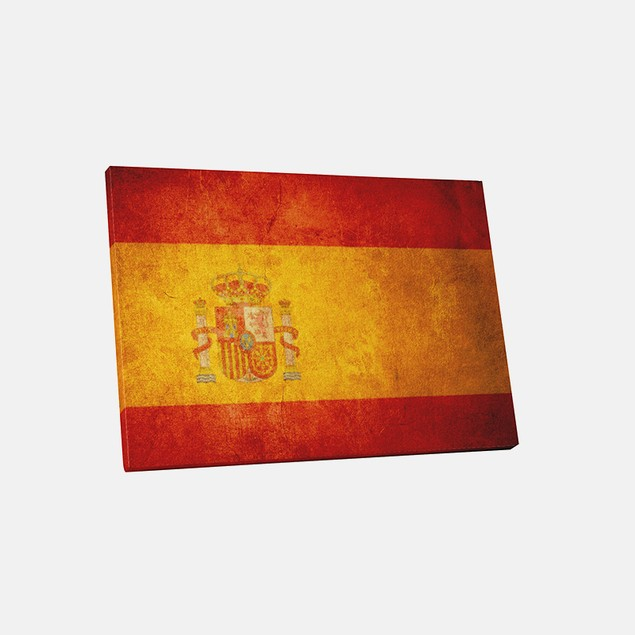 Vintage Spain Flag Canvas Print