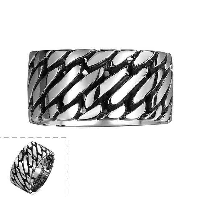 Classic Clean Cut Stainless Steel Ring