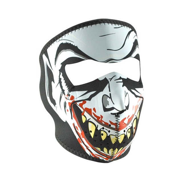 Glow in the Dark Vampire Neoprene Full Face Mask