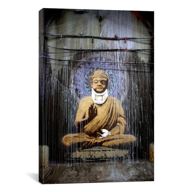 Injured Buddha Canvas Print