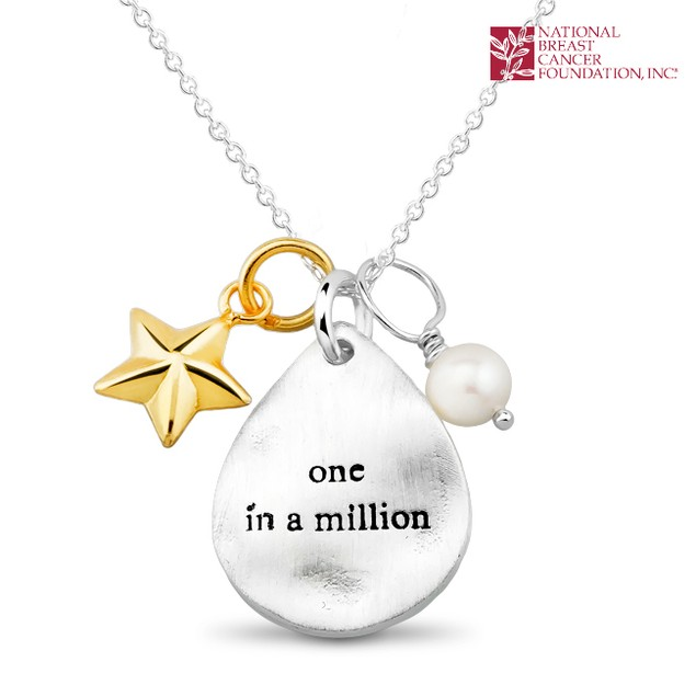 National Breast Cancer Foundation Inspirational Jewelry - Sterling Silver One In A Million Pendant