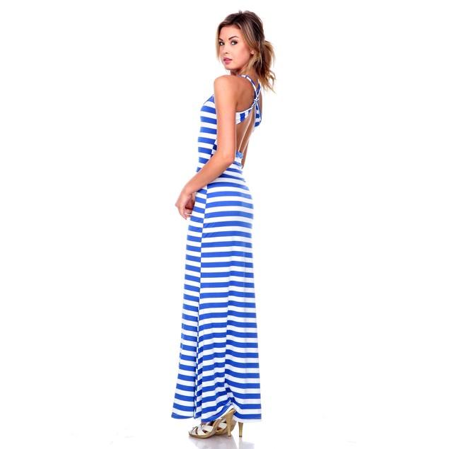 Women's Striped Maxi Dress