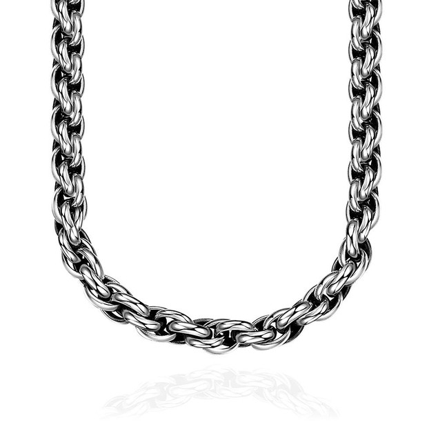 Alpha Steel Classic New York Chain Stainless Steel Necklace