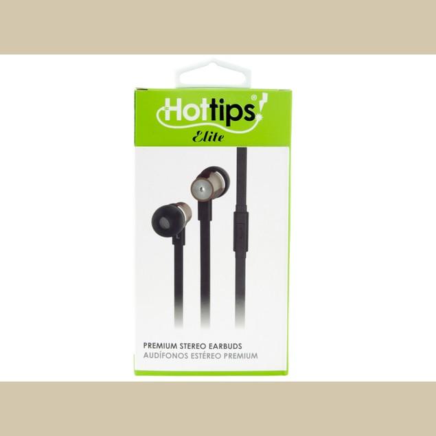 Hottips Elite Premium Stereo Earbuds with Microphone