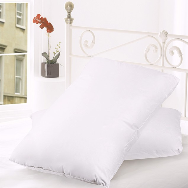 2-Pack Goose Down and Feather Premium Bed Pillow