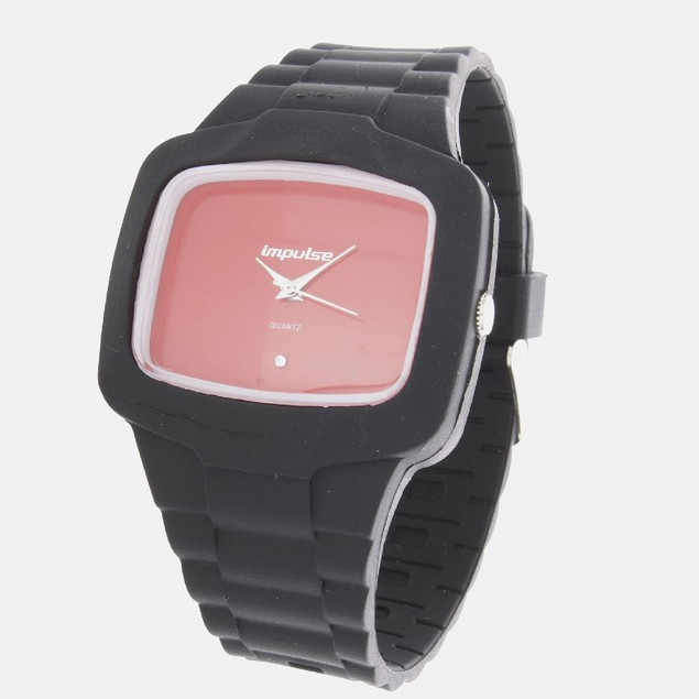 Impulse Silicone Square Quartz - Black/Red