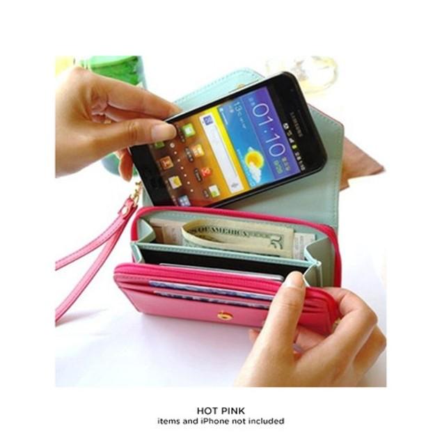 Crown Smart Phone Wallet Clutch