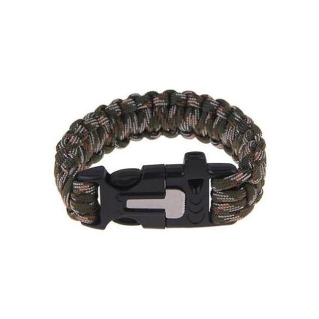Paracord Survival Bracelet w/ Flint Scraper and Cutting Tool