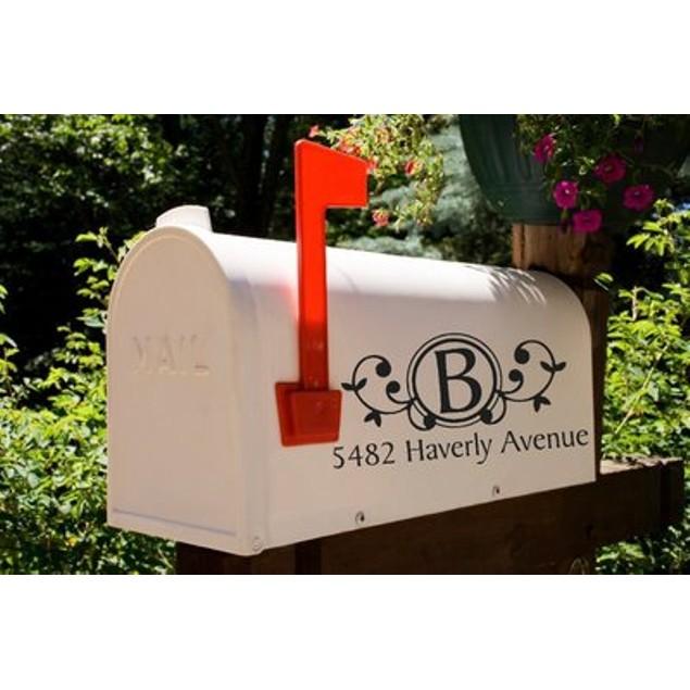Custom Monogram Mailbox Decal